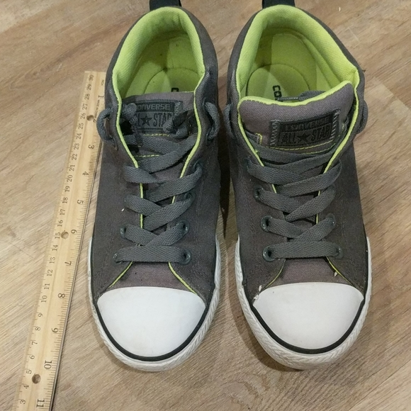 Converse lime and grey size 5 youth
